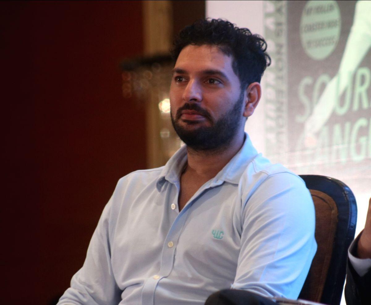 Yuvraj Singh. (Photo: Bidesh Manna/IANS)