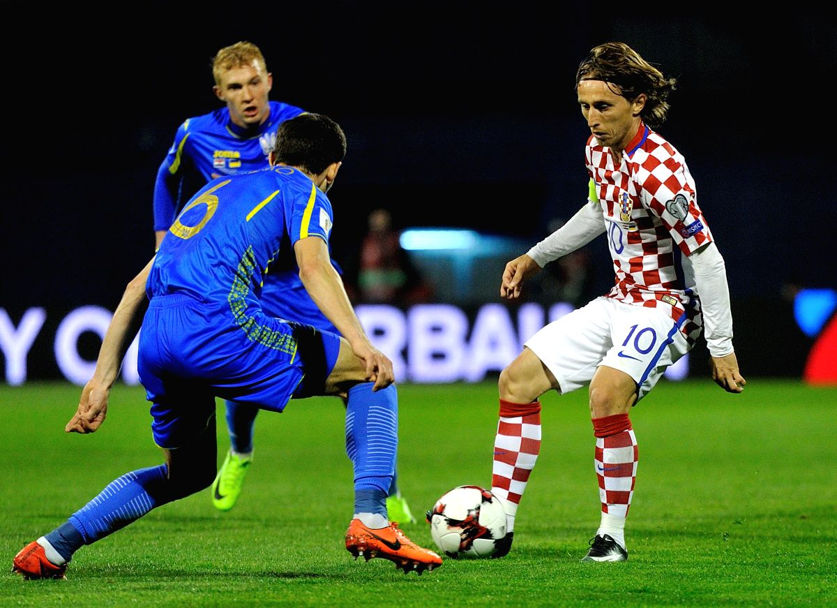 Sixth time turned out to be lucky for Croatia's Luka Modric as he scored his first World Cup goal.