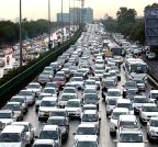 Traffic jam at NH-8