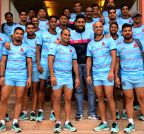 Abhisekh Bachchan with his Kabaddi team