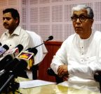 Agartala: Tripura CM addresses press