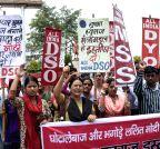 AIDSO demonstration against Sushma Swaraj