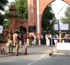 Aligarh: Aligarh Muslim University Students' Union stages a demonstration