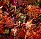 Allahabad: Holi with flower petals