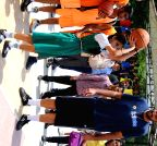 Chandigarh: Gursimran `Sim` Bhullar with young basketball enthusiasts