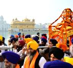Amritsar: Religious procession to mark the martyrdom anniversary of Guru Teg Bahadur