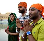 Amritsar: Starscast of upcoming Punjabi movie `Proper Patola` at Golden Temple