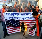 Amritsar: Protest against racial slur - Shiv Sena Samajwadi