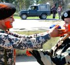 Amritsar: BSF Women officers celebrate Holi