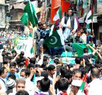 Anantnag: Pakistani flags flown during Shabir Ahmad Shah's rally