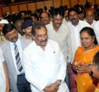 Bangalore: K.J. George interacts with people during a public meeting