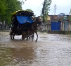 Baramulla: Waterlogged roads of Baramulla