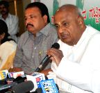 Bengaluru: H D Deve Gowda's press conference