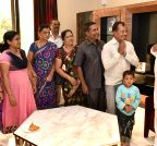 Bengaluru: M.B. Patil meets Karnataka tourists who were stranded in Nepal
