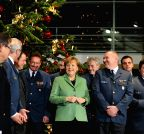 Berlin (Germany): Christmas tree lighting ceremony in the chancellery