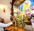 Bodh Gaya: Nitish Kumar during Buddha Purnima celebrations