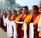 Bodh Gaya: 17th Gyalwang Karmapa Ogyen Trinley Dorje offers prayers for World Peace