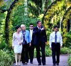 SINGAPORE-BRITAIN-PM-NATIONAL ORCHID GARDEN-VISIT