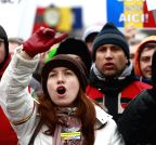 ROMANIA-BUCHAREST-PROTEST