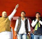 Bundu: Amit Shah during a rally in Bundu