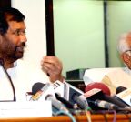 Chandigarh: Haryana CM, Ramvilas Paswan address press conference