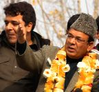 Chrar-e-Sharif: Abdul Rahim Rather during an election campaign