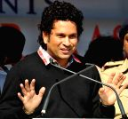 Kolkata: Sachin Tendulkar at the inauguration of swimming training institute