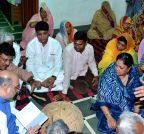 Dausa: Amit Shah meets Gajendra Singh's family members