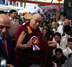 Dharmsala: Dalai Lama at Tibetan Institute of Performing Arts