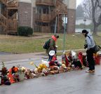Ferguson (United States): The scene where Michael Brown was shot in Ferguson