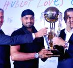 Gurgaon: Harbhajan Singh during Hublot press conference