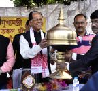 Guwahati: Assam CM during a Saraswati Puja programme