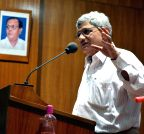 Howrah: Sitaram Yechury addresses during a CPI (M) meeting