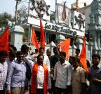 Hyderabad: Bajrang Dal demonstration