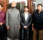 Hyderabad: Maharashtra MIM legislators meet Asaduddin Owaisi