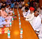 Jaipur: Gujjars leaders meet with Rajasthan cabinet ministers