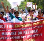 Jaipur: Kashmiri Pandits demonstration