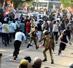 Jaipur: Lathi charge on Youth Congress activists
