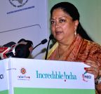 Jaipur: Vasundhara Raje during GITB 2015