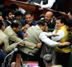Jammu: Pandemonium in J&K Assembly