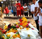NEPAL-KATHMANDU-EARTHQUAKE-MEMORIAL PROCESSION