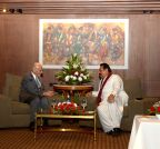 Kathmandu (Nepal): Afghan President meets Sri Lankan President ahead of the 18th SAARC summit