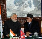 Kathmandu (Nepal): PM Modi with his Nepalese counterpart