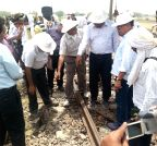 Kaushambi: Railway inspection of Muri Express derailment