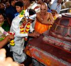 Khammam: Telangana CM at Khammam temple