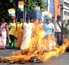 Kolkata: Congress protest one year of NDA government
