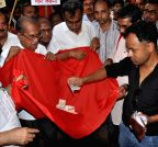 Kolkata: CPI-M leaders collect donation for the Nepal earthquake victims