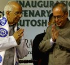 Kolkata: President Mukherjee during inauguration of centenary building of Asutosh College