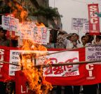 Kolkata: Protest against LPG price hike