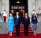 PERU-LIMA-CHINESE PREMIER-WELCOMING CEREMONY